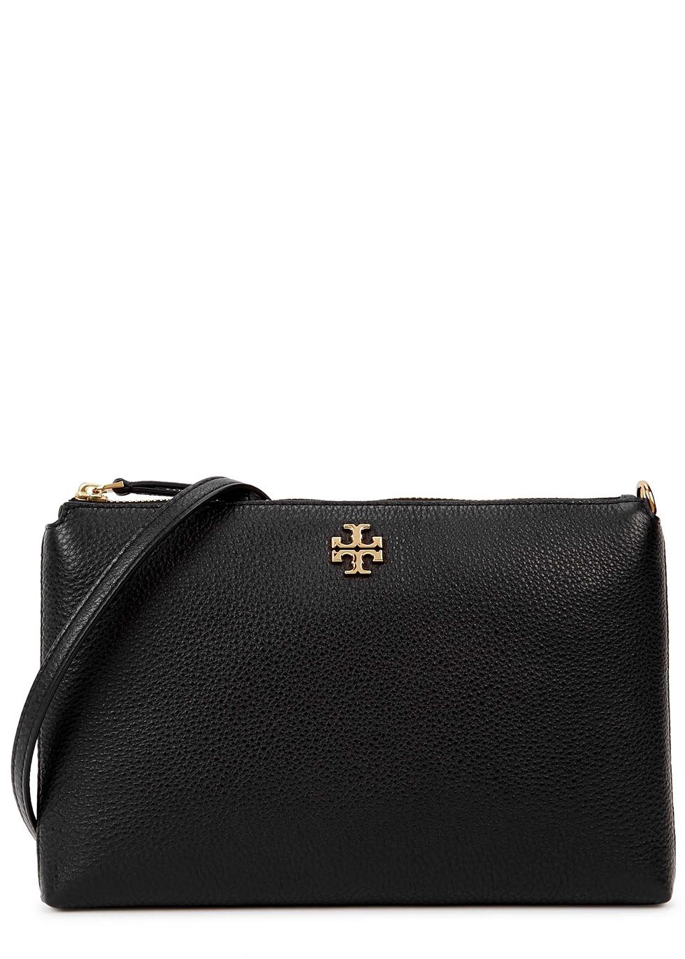 Kira black leather cross-body bag