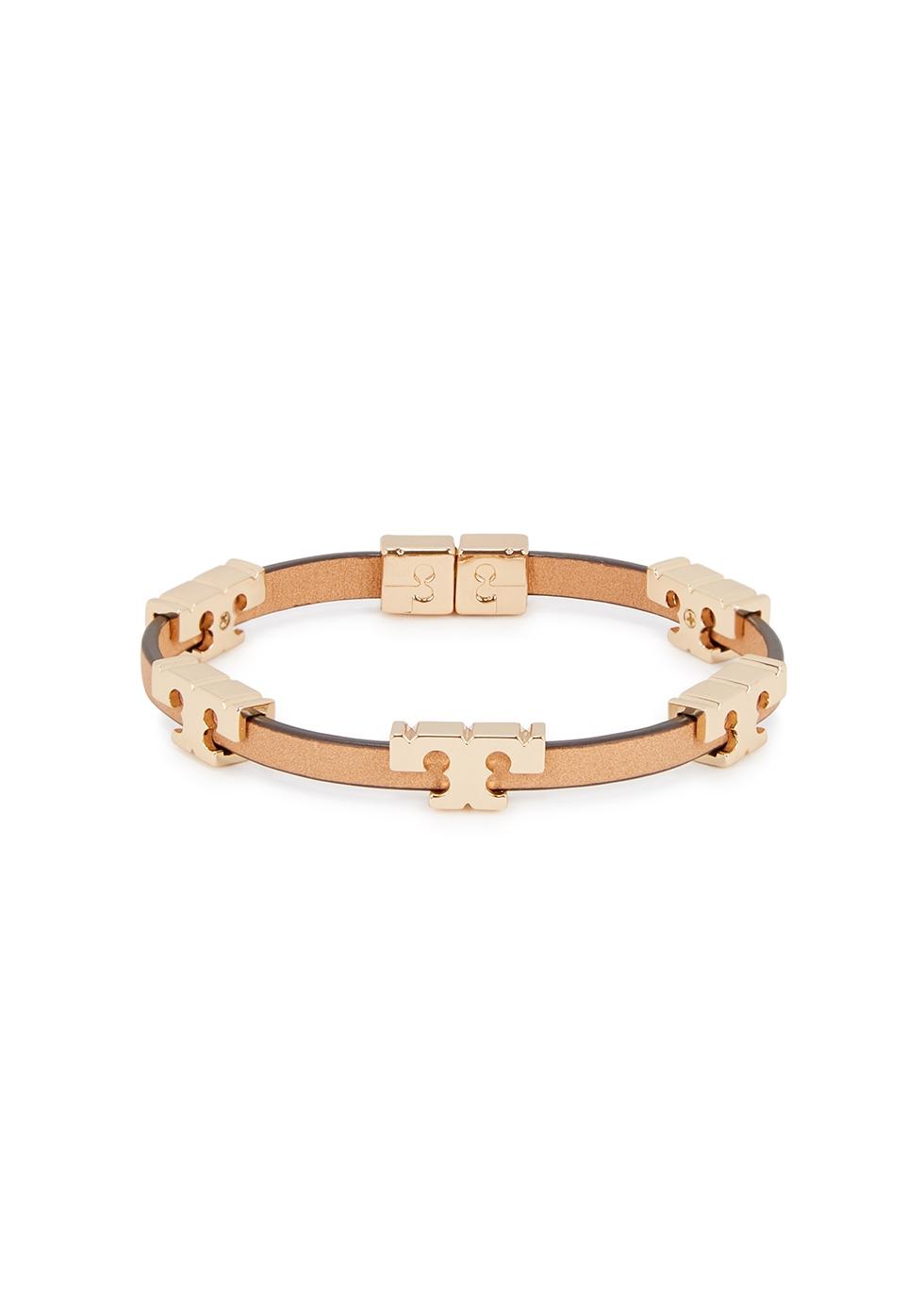 Serif-T brown leather bracelet