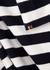 N°191 Scoop striped cashmere-blend jumper dress - extreme cashmere