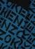 Blue logo stretch-knit mini skirt - Kenzo