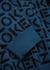 Blue logo-intarsia knitted jumper - Kenzo