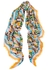 FF-print silk and wool-blend scarf - Fendi