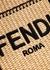 Sunshine mini logo-embroidered raffia cross-body bag - Fendi
