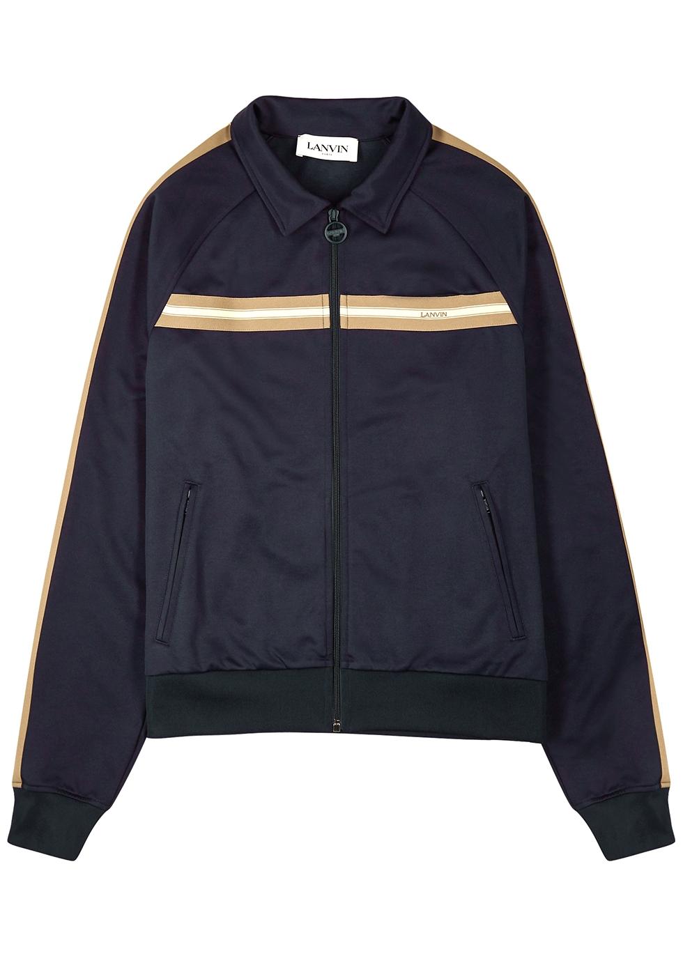 Navy jersey track jacket
