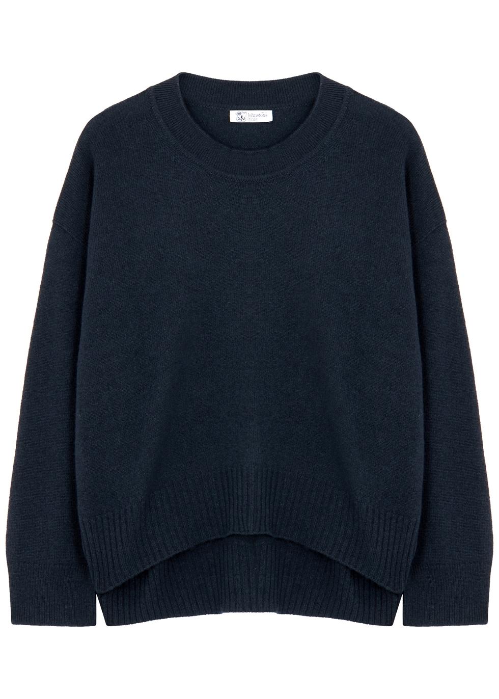 Navy cashmere jumper
