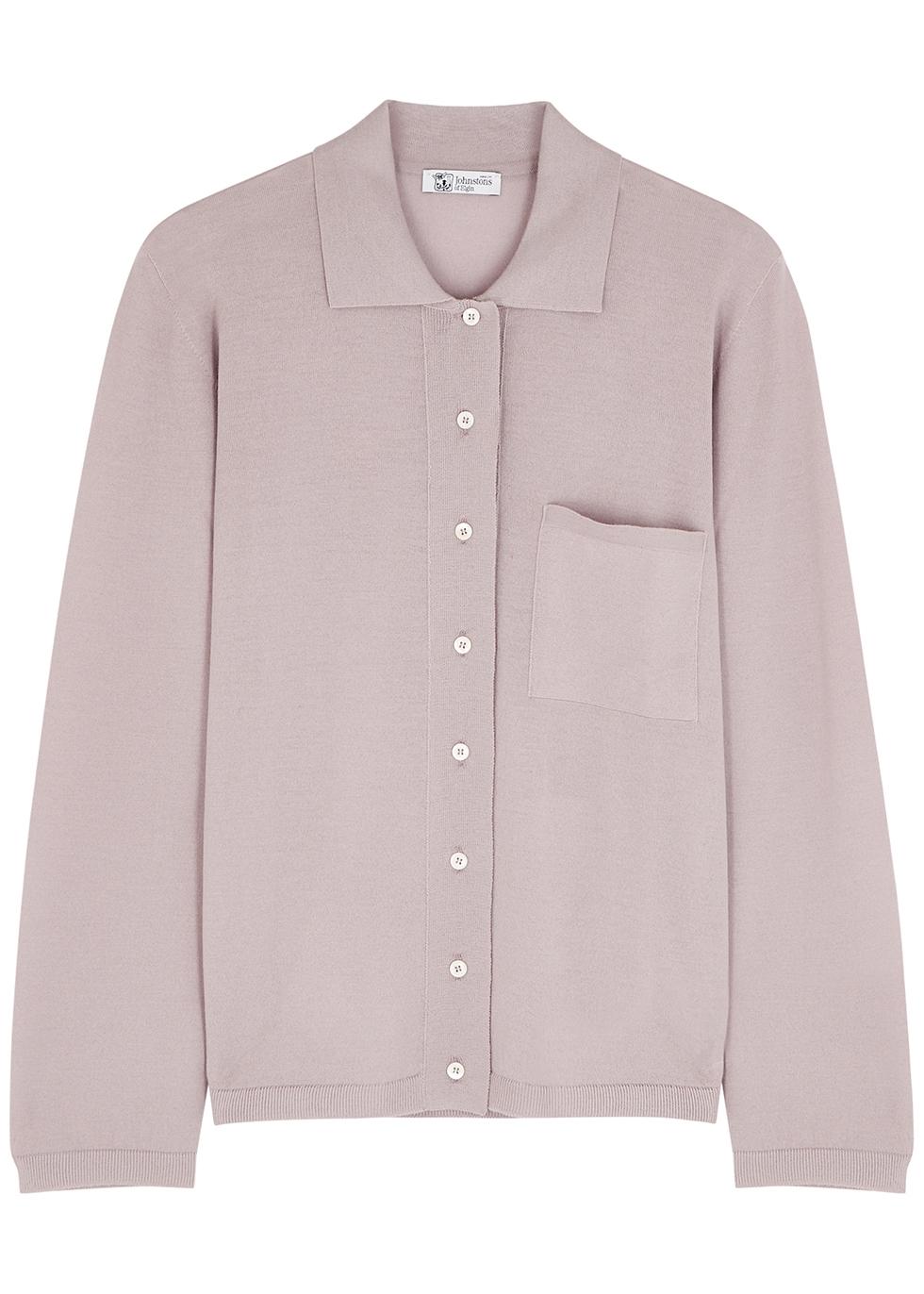 Mauve wool shirt