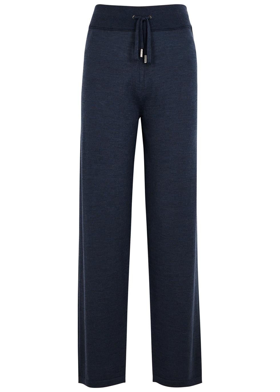 Navy wool sweatpants