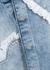 Blue heart-panelled denim overshirt - Natasha Zinko