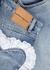 Blue heart-embellished wide-leg jeans - Natasha Zinko