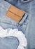 Blue heart-embellished denim shorts - Natasha Zinko
