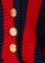 Striped panelled wool-blend dress - Balmain