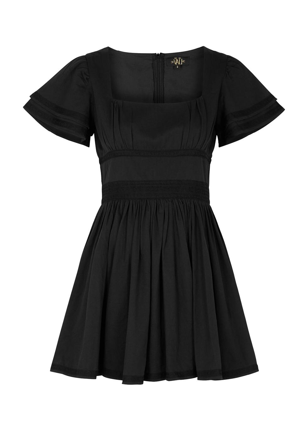Chiquilla black cotton mini dress