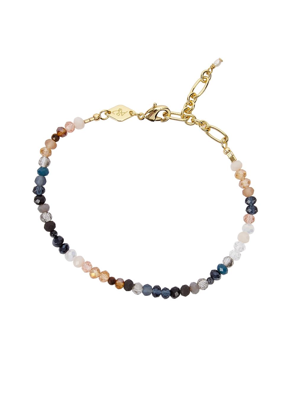 Moonstone Beach beaded bracelet