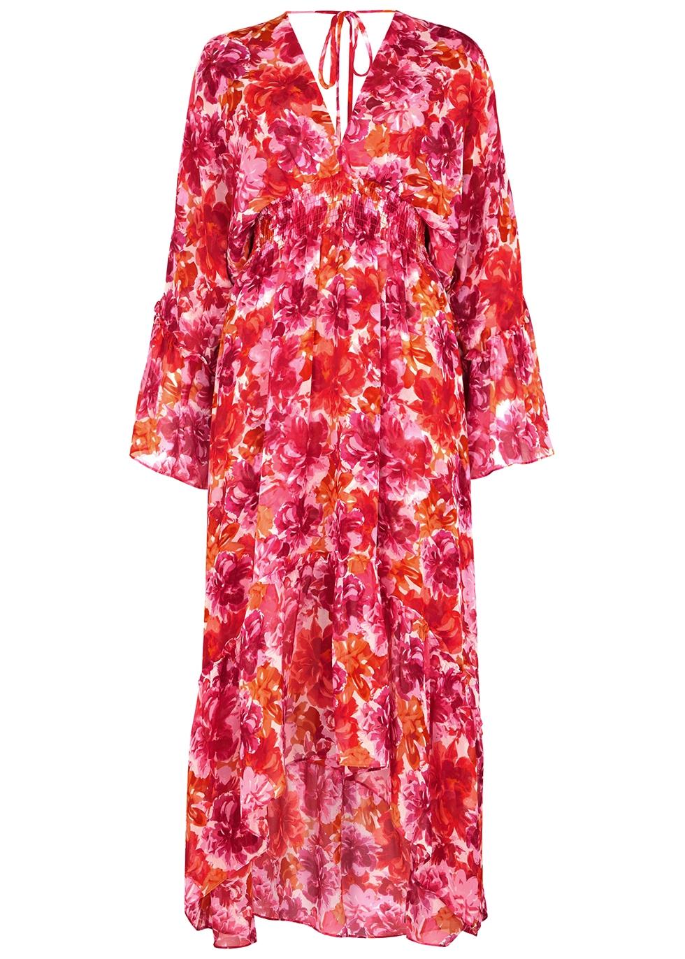 Shadi floral-print chiffon midi dress