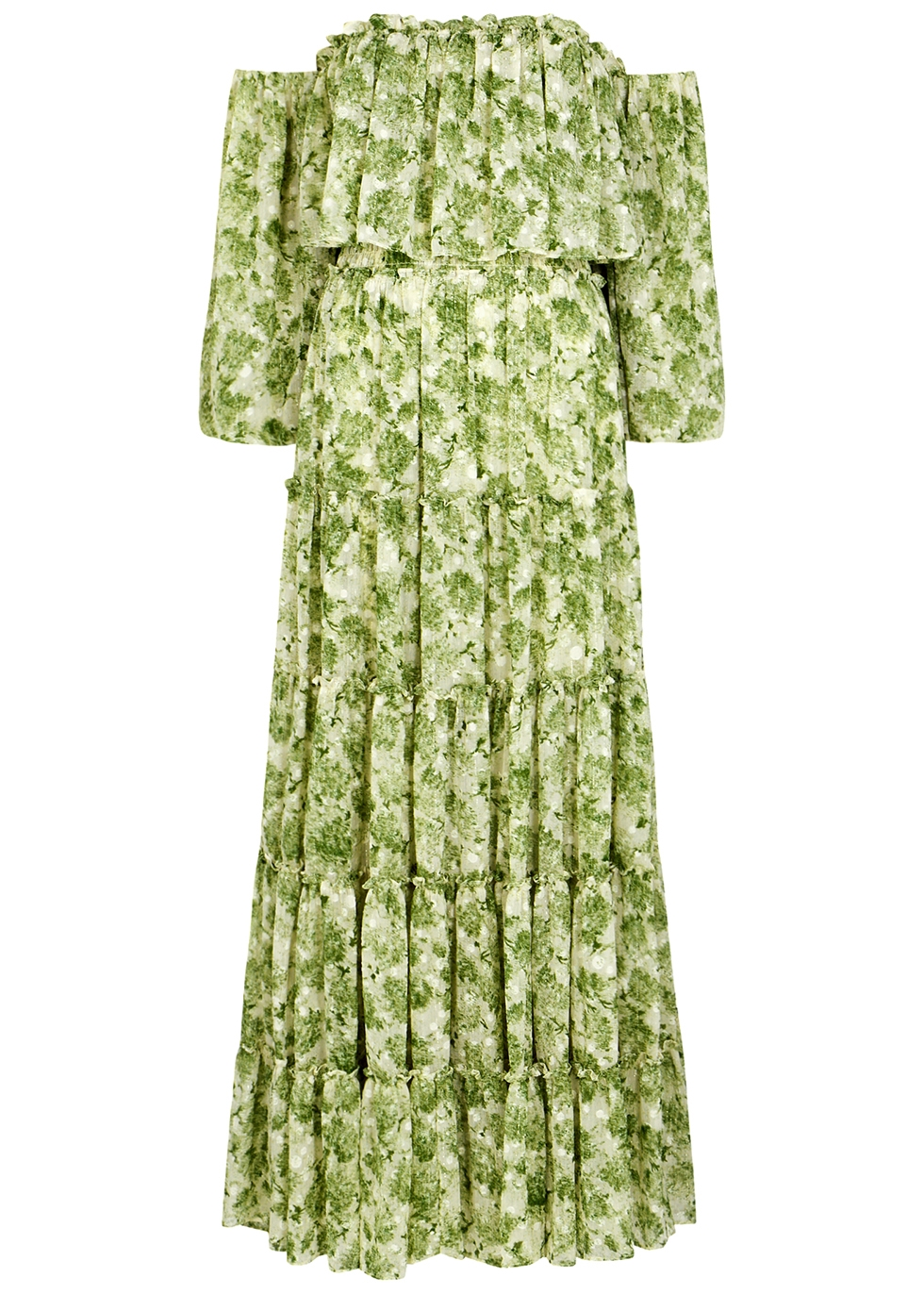Cassandra printed chiffon maxi dress