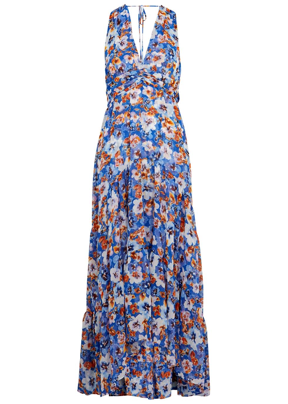 Dominika floral-print chiffon maxi dress