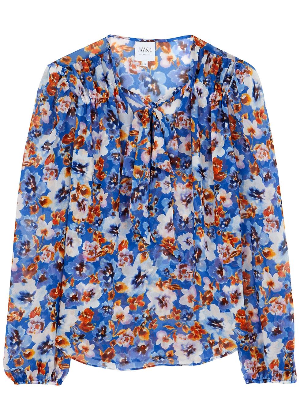 Ceyla floral-print chiffon blouse