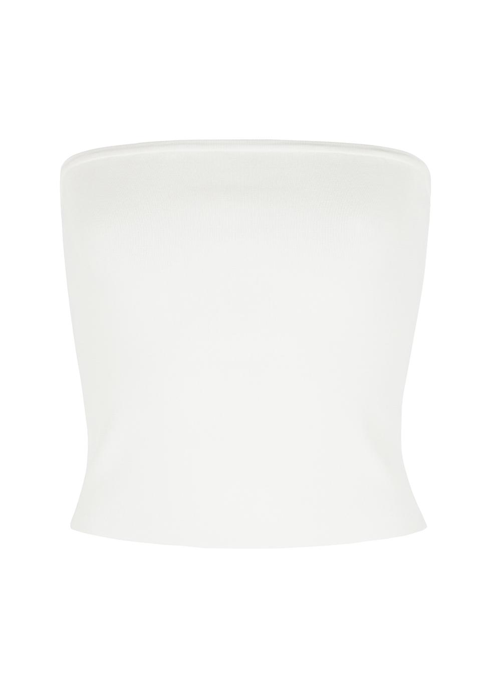 Alison white stretch-knit top