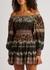 Clementina printed off-the-shoulder mini dress - Alice + Olivia