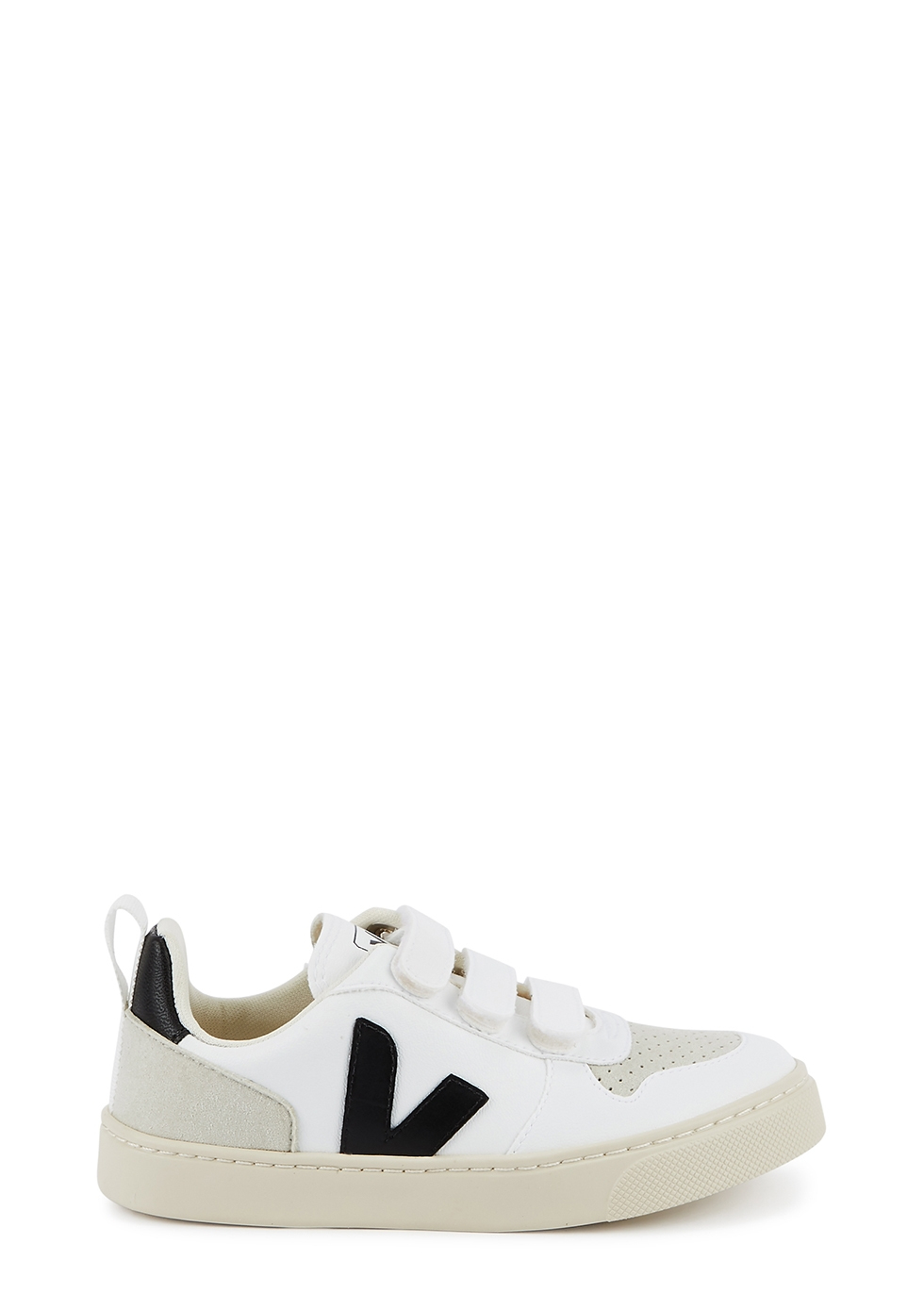 V-10 white leather sneakers