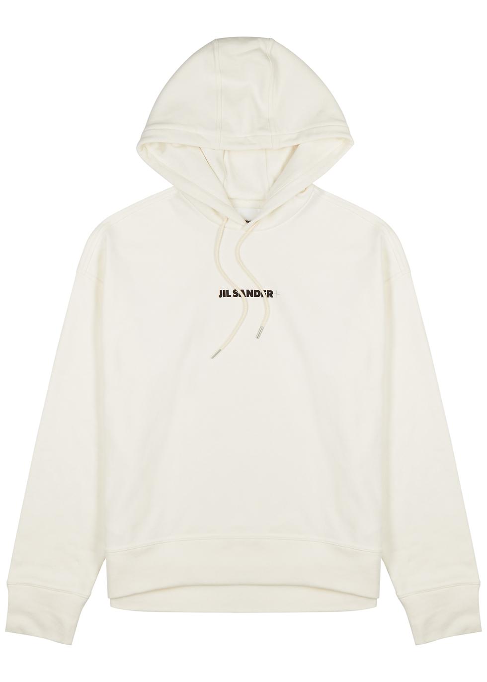 Off-white logo hooded cotton sweatshirt