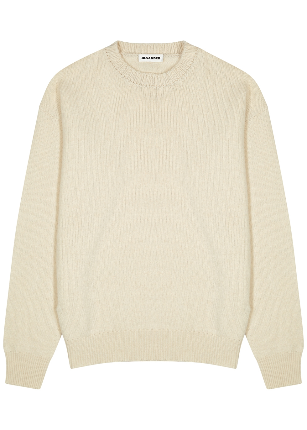 Cream wool-blend jumper