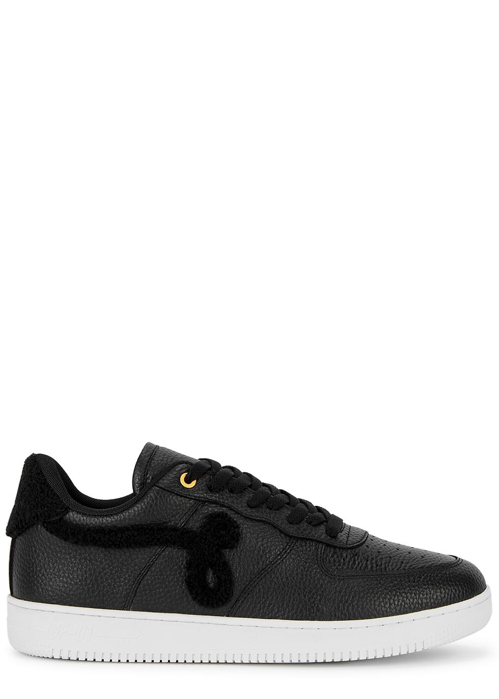 GF-01 black leather sneakers