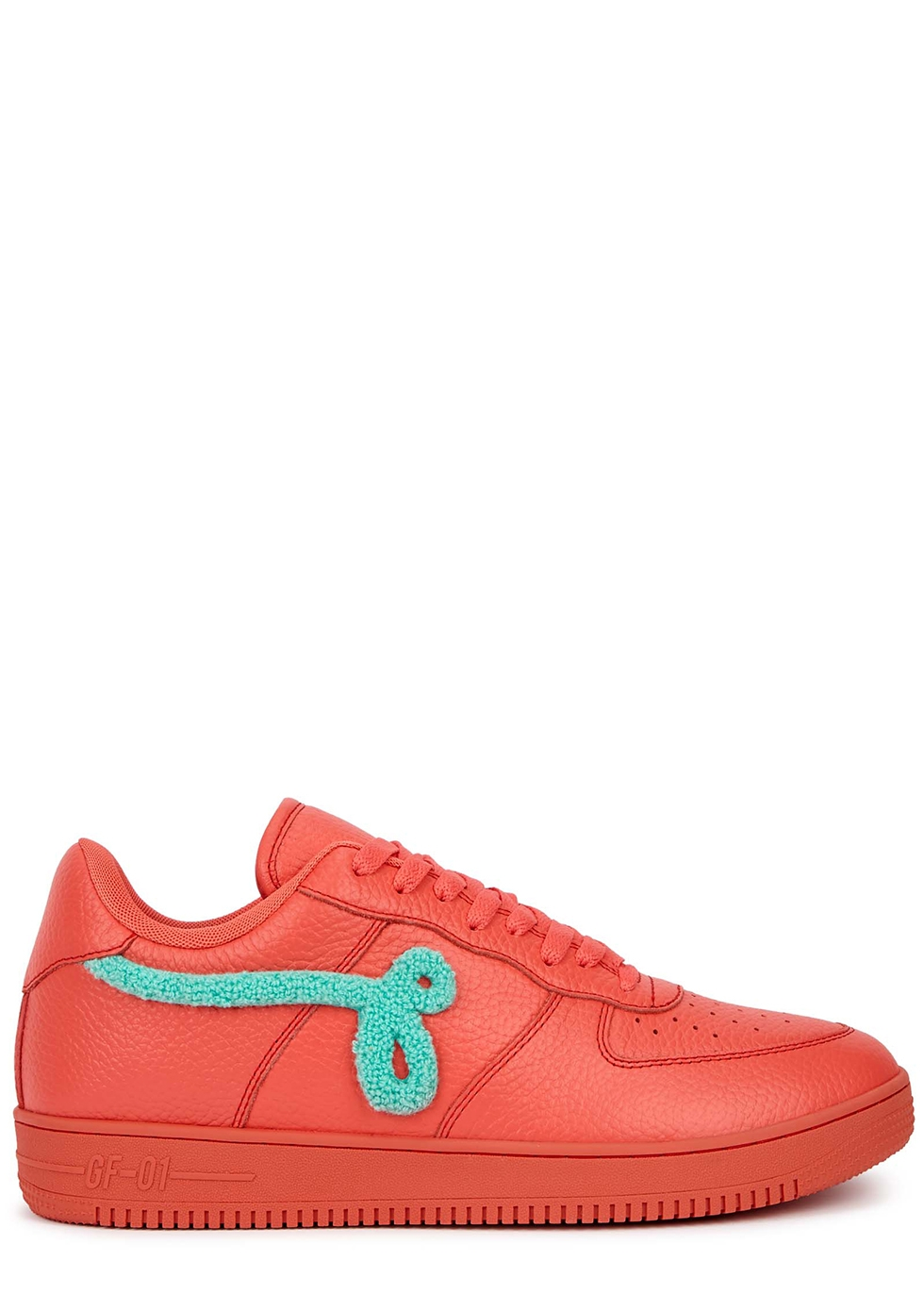 GF-01 coral leather sneakers