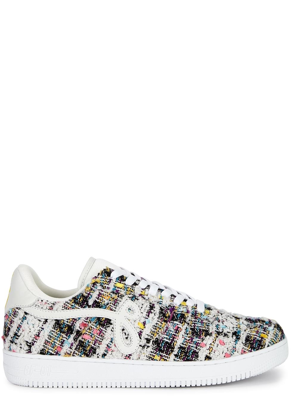 Bouclé tweed sneakers