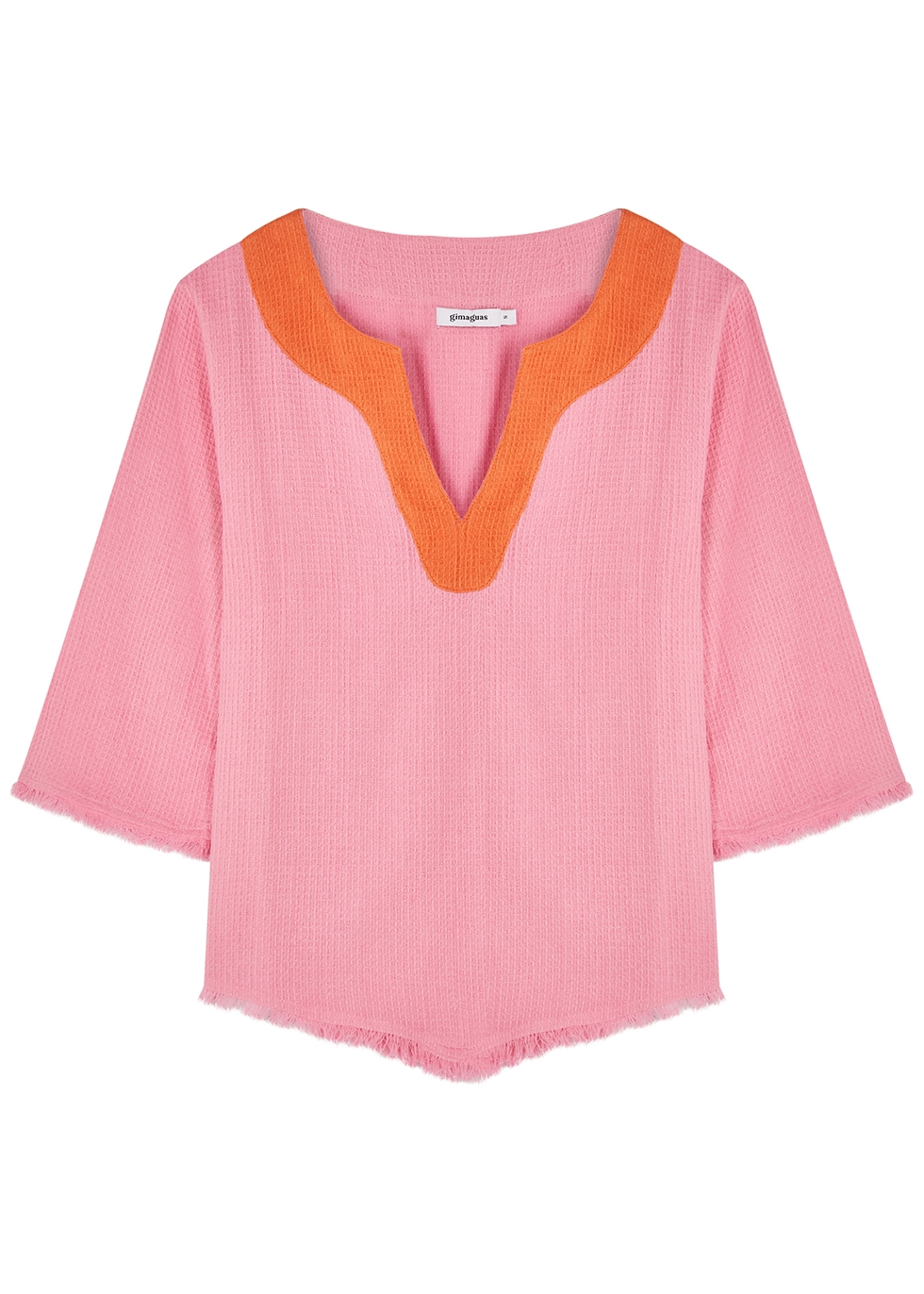 Comporta pink woven cotton top