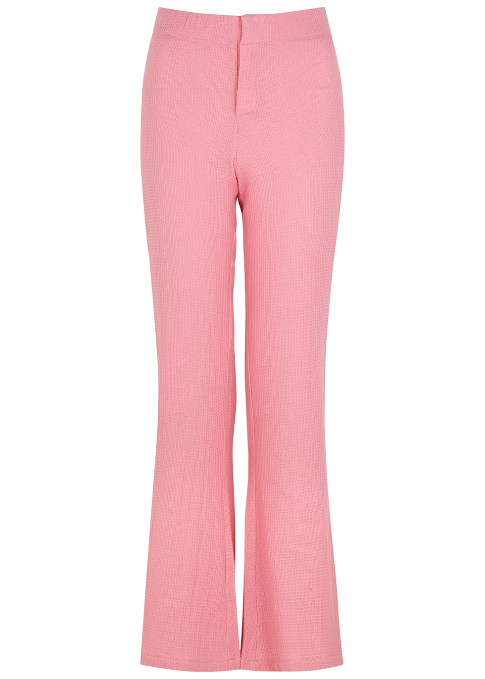 Comporta pink flared cotton trousers
