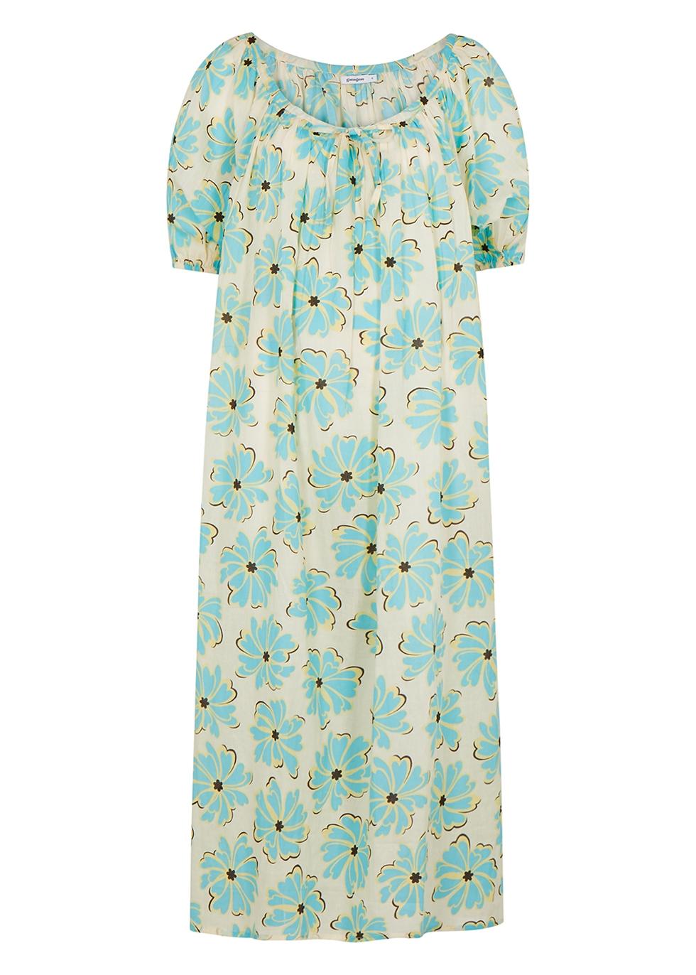 Globo floral-print cotton midi dress