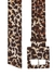 Rickie leopard-print canvas belt - Veronica Beard