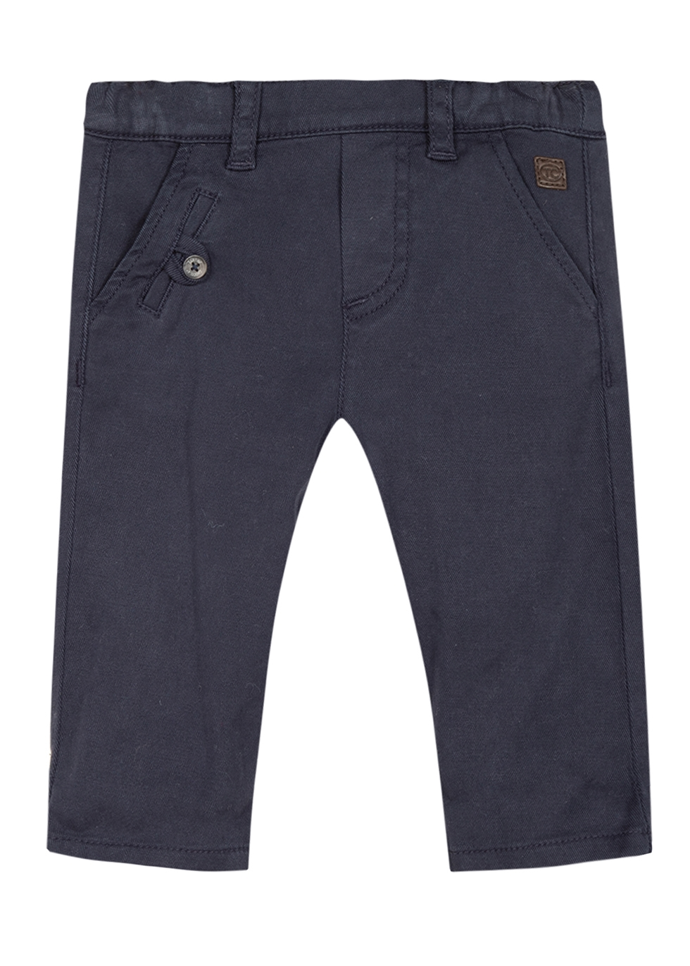 Navy brushed twill trousers (3 months-12 months)
