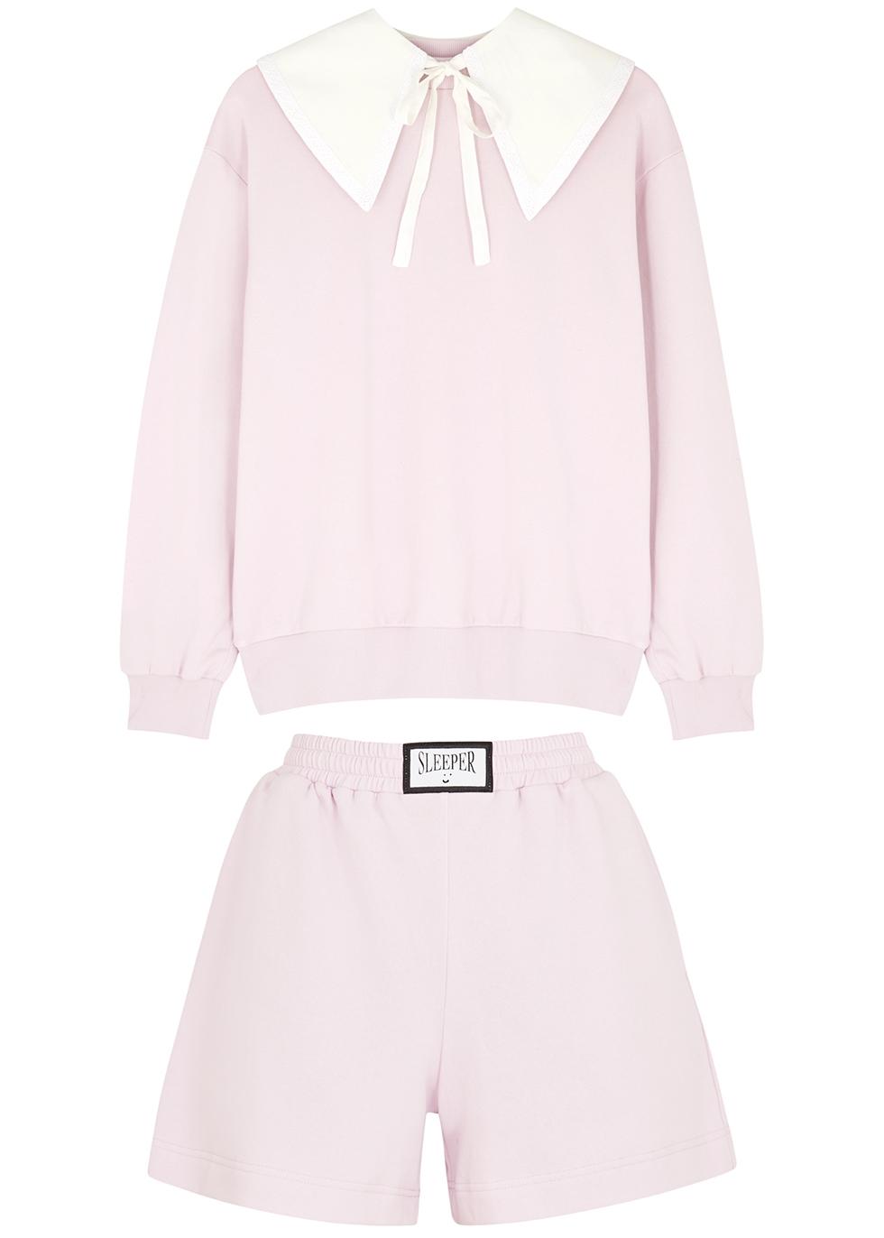 Diana Athpleasure light pink cotton-blend pyjama set