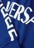 Blue logo-print cotton sweatshirt (8-14 years) - Versace