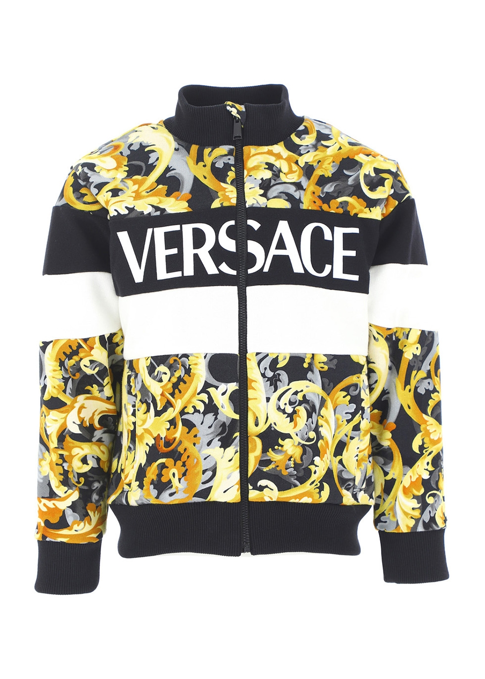 Baroque-print panelled cotton track jacket (4-6 years)