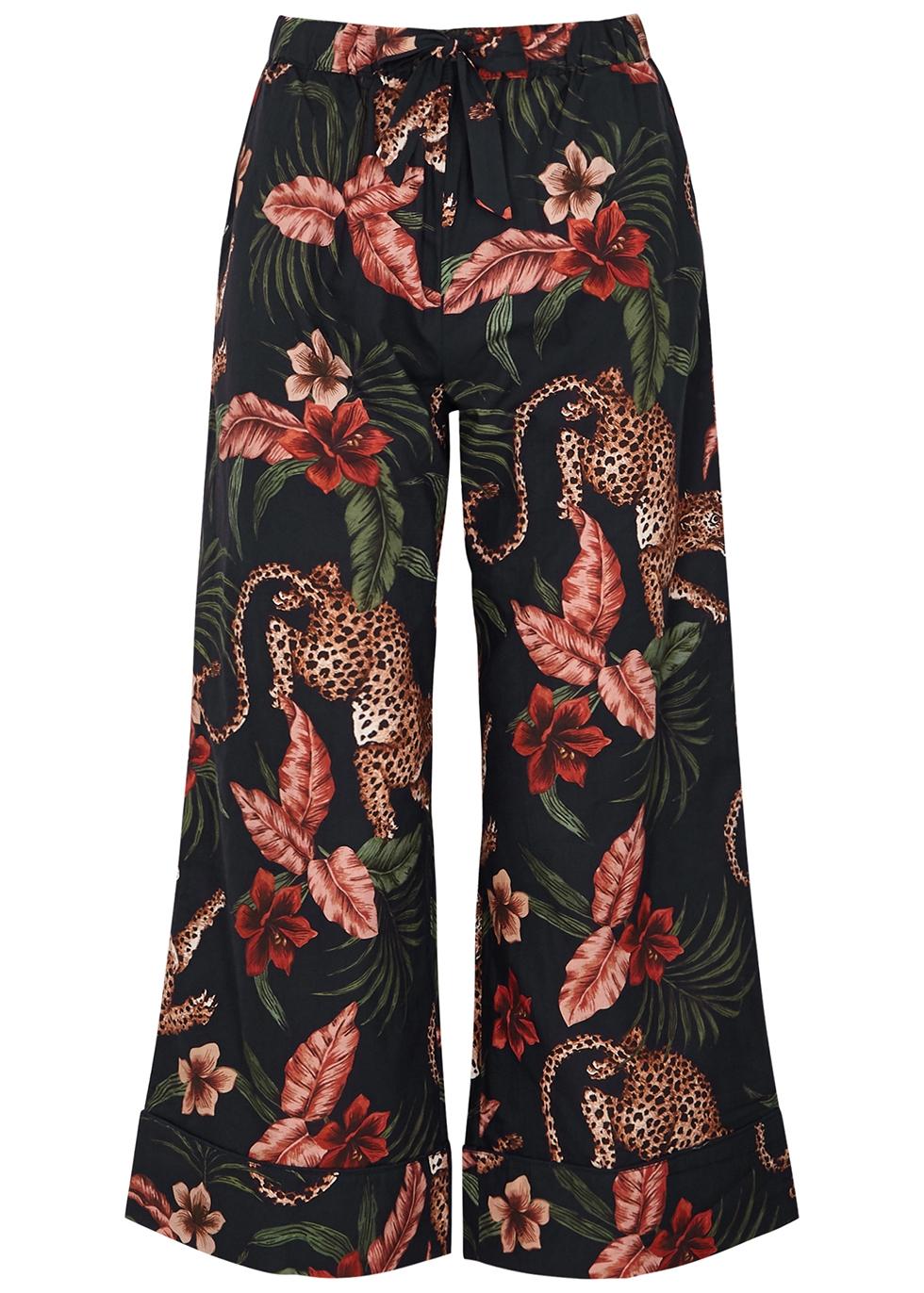 Soleia printed cotton pyjama trousers
