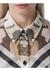 Detachable scarf camouflage print silk oversized shirt - Burberry