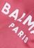 Pink logo hooded cotton sweatshirt (4-10 years) - Balmain