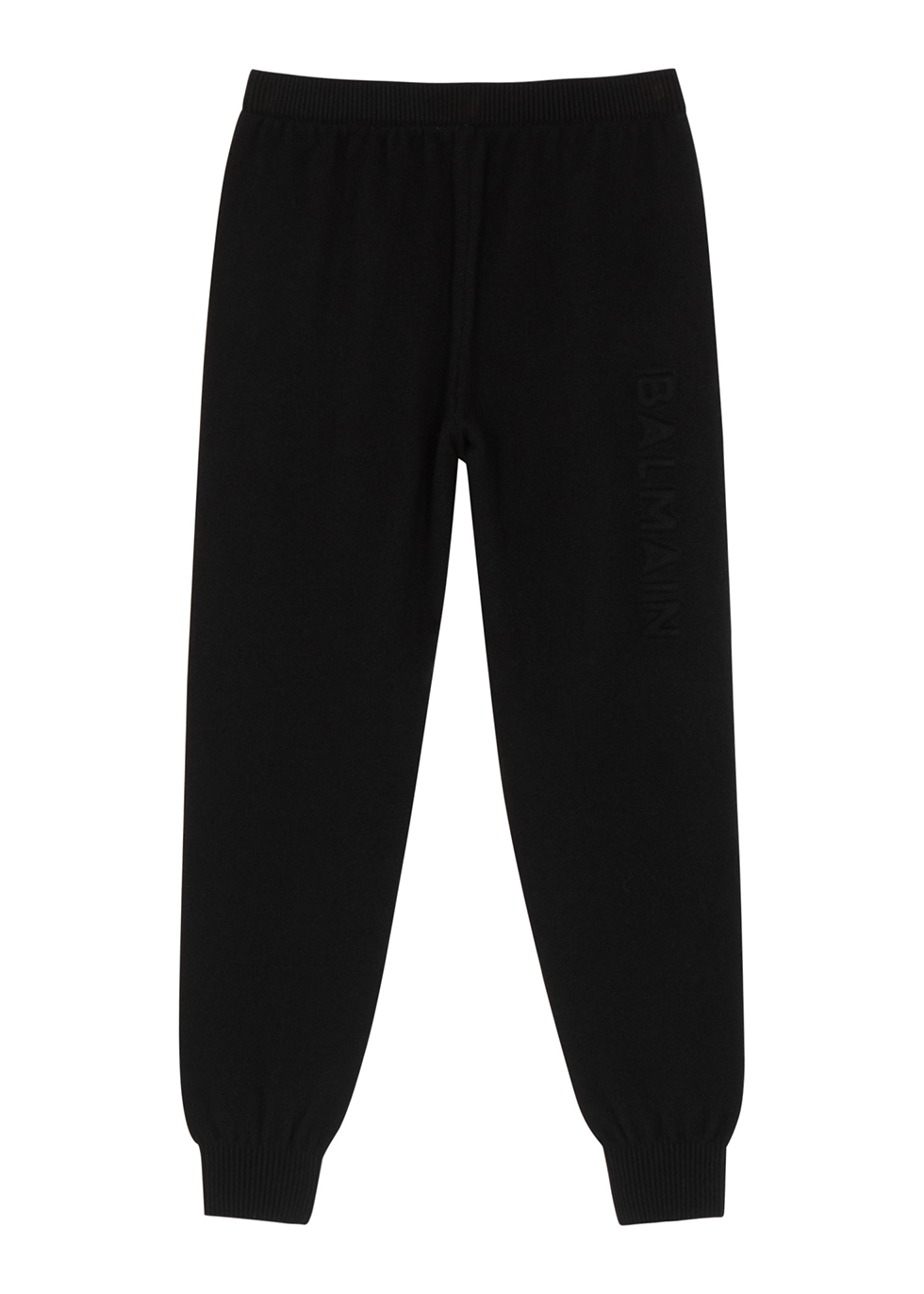 Black logo wool-blend sweatpants (4-10 years)