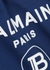 Dark blue logo-print cotton T-shirt (12-14+ years) - Balmain
