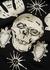 Black embroidered hooded cotton sweatshirt - Alexander McQueen