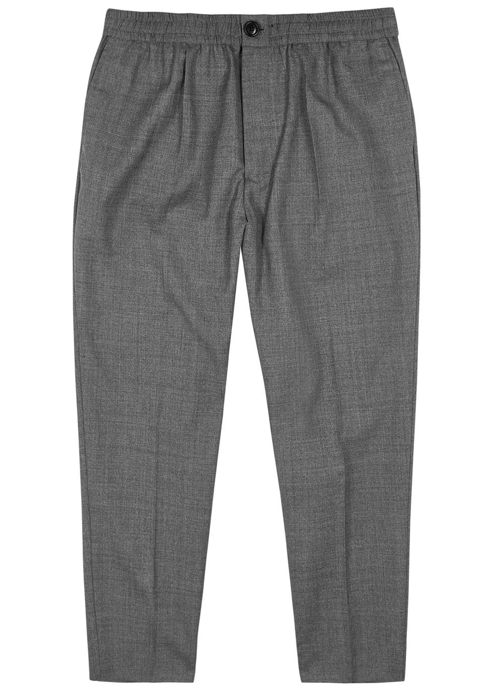 Grey woven wool trousers