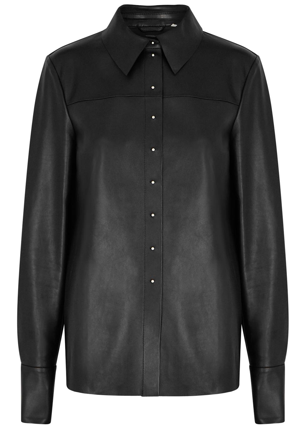 Ciurma black leather shirt