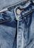 Blue acid-wash wide-leg jeans - Natasha Zinko