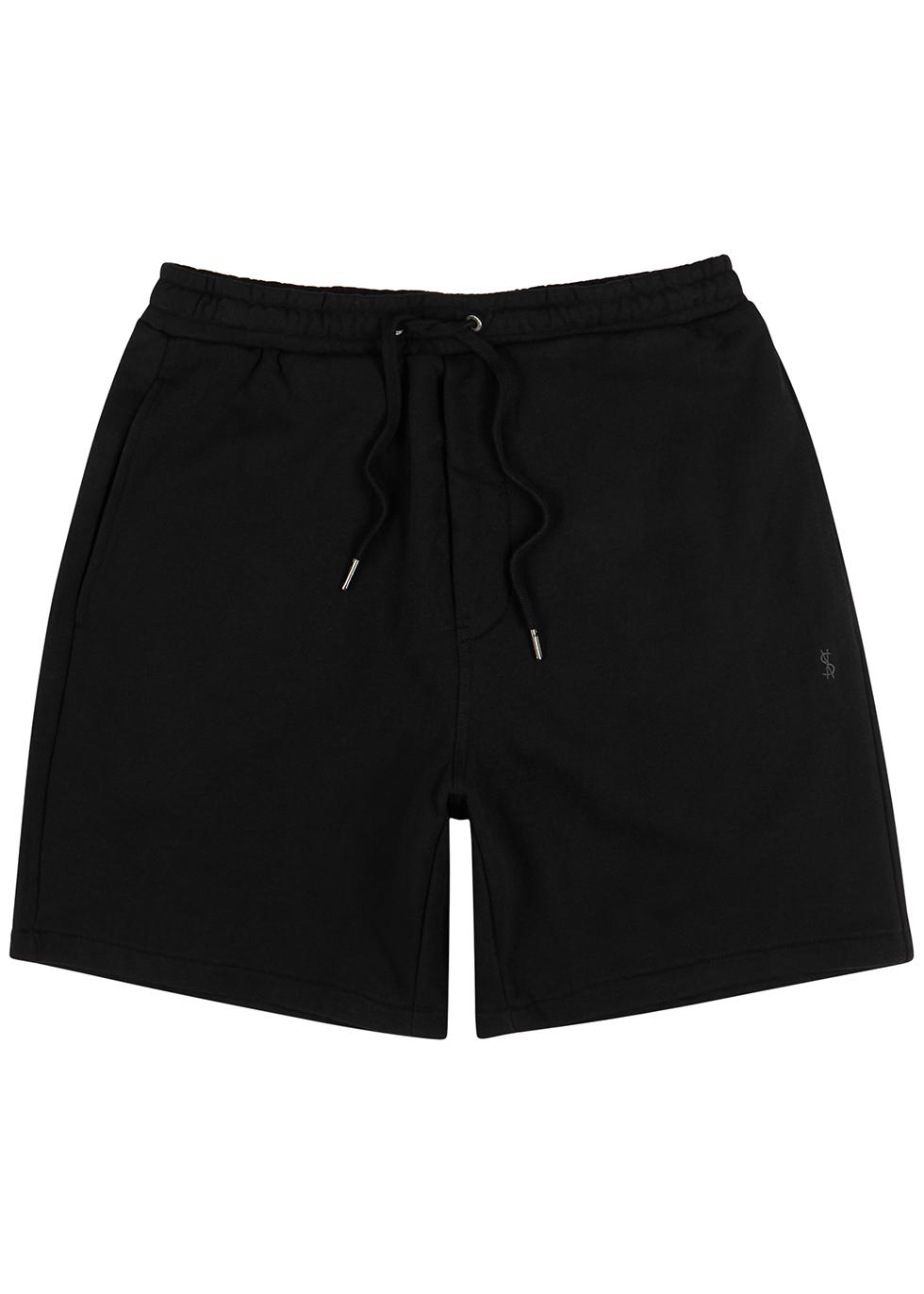 Lofi black cotton shorts