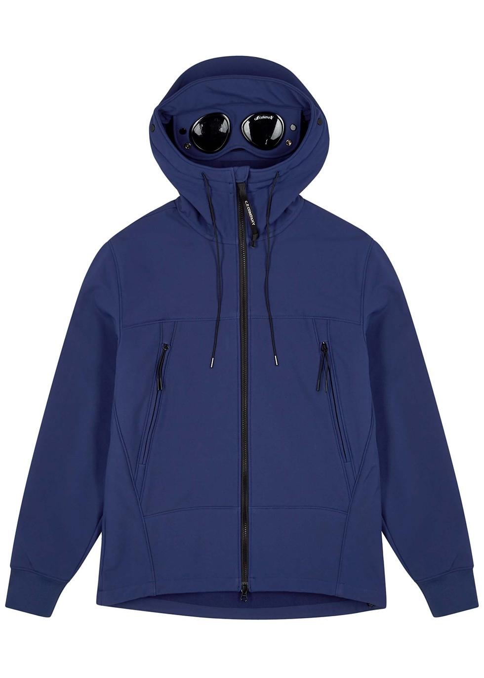 Goggle navy shell jacket