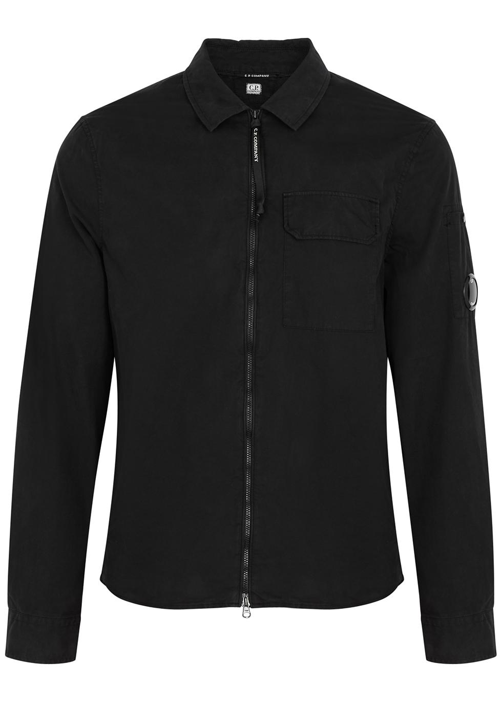 Navy cotton overshirt