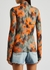 Chine printed stretch-jersey top - Off-White